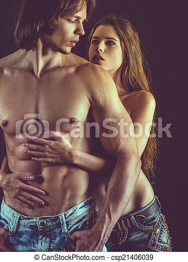 beau, couple, amour, jeune - csp21406039