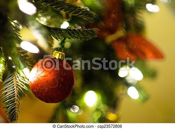 beau, décoré, arbre, noël - csp23572806