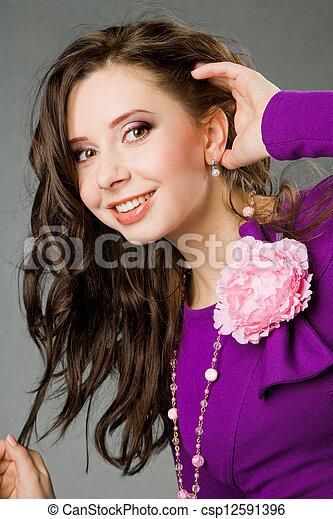 beau, fille souriante - csp12591396