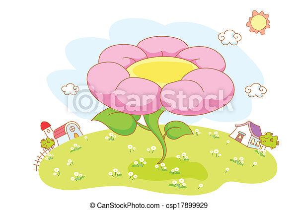 beau, fleurs, jardin - csp17899929