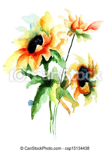 beau, fleurs - csp15134438