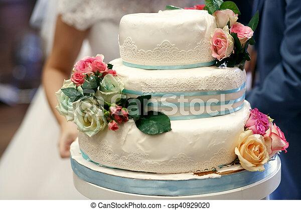 Beau Gâteau Luxe Mariage