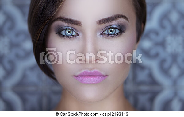 beau, girl, closeup, figure - csp42193113