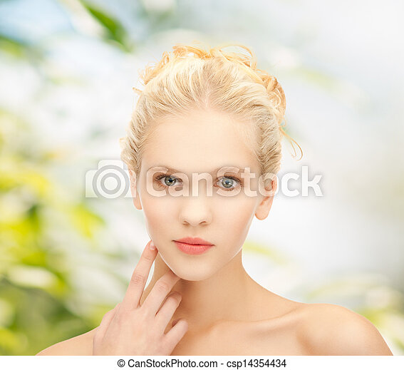 beau, girl, propre, figure - csp14354434
