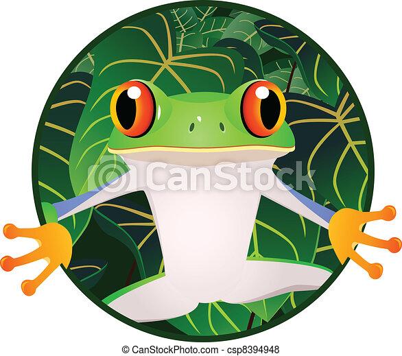 beau, grenouille - csp8394948