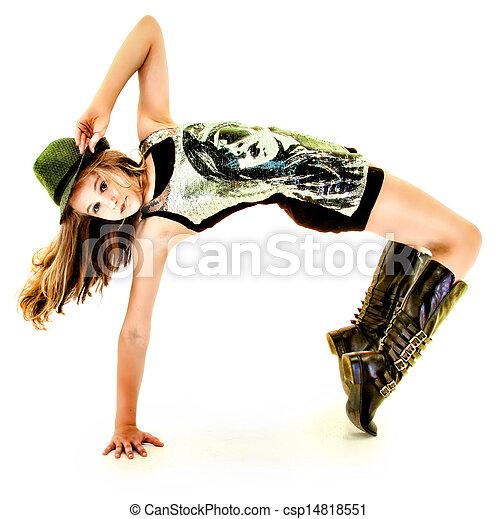 beau, hanche, danse, tween, houblon, girl - csp14818551