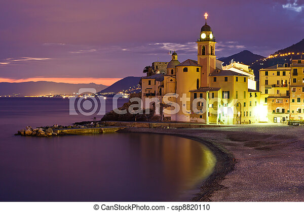 Bien-aimé Banques de photographies de beau, italie, gênes, coucher soleil  RI91