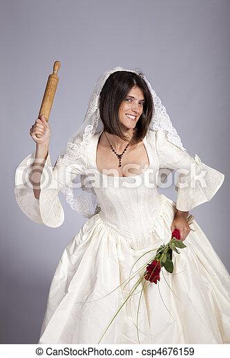 beau, mariée, fou - csp4676159
