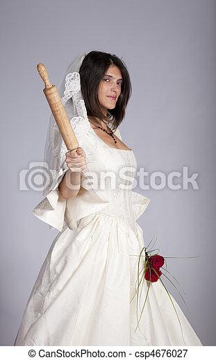 beau, mariée - csp4676027