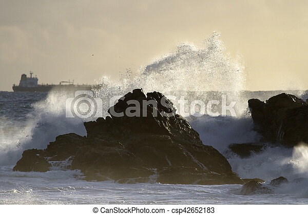 beau, marine, orage, lumière - csp42652183
