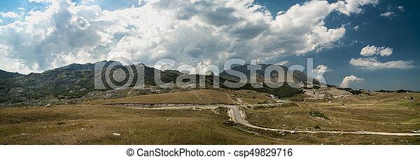 beau, montagne, été, panorama, balkans, jour - csp49829716