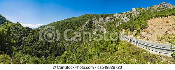 beau, montagne, été, panorama, balkans, jour - csp49829720