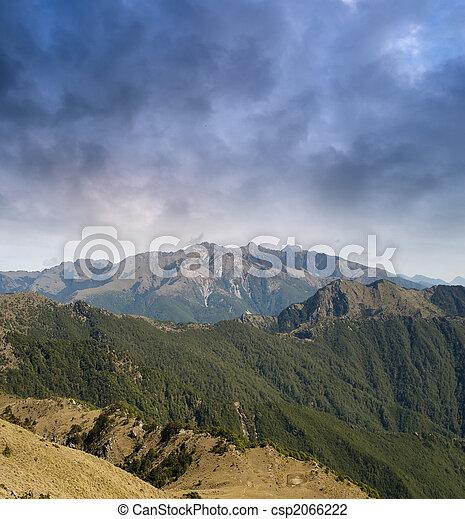 beau, montagne, orage, venir - csp2066222