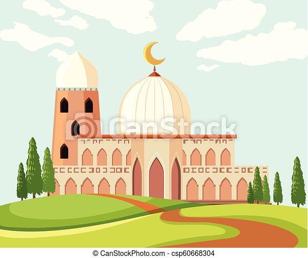 beau, mosquée, paysage - csp60668304