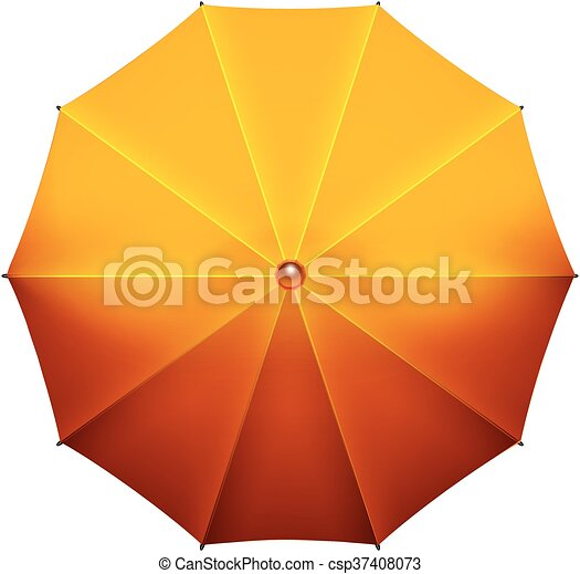 beau, open., parapluie, jaune - csp37408073