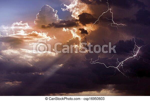 beau, orage - csp16950603