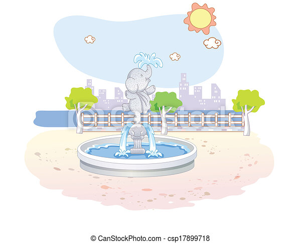 beau, parc, paysage - csp17899718