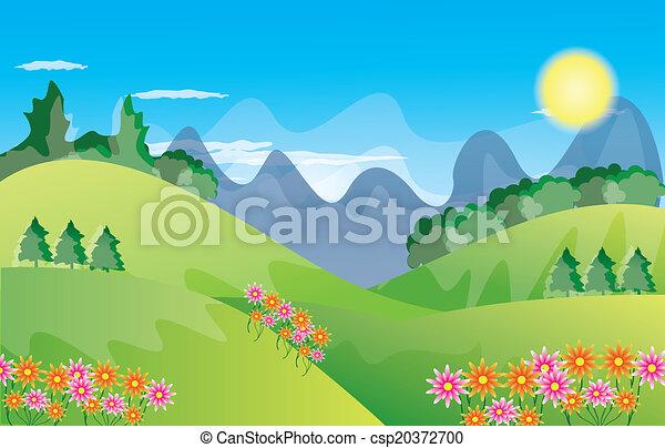 beau, paysage, fond - csp20372700