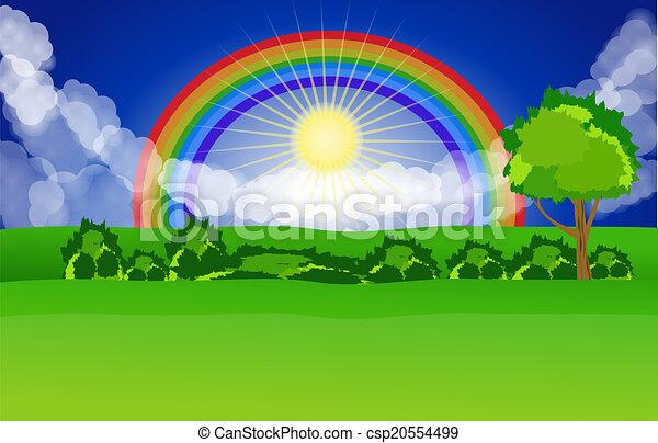 beau, paysage, fond - csp20554499