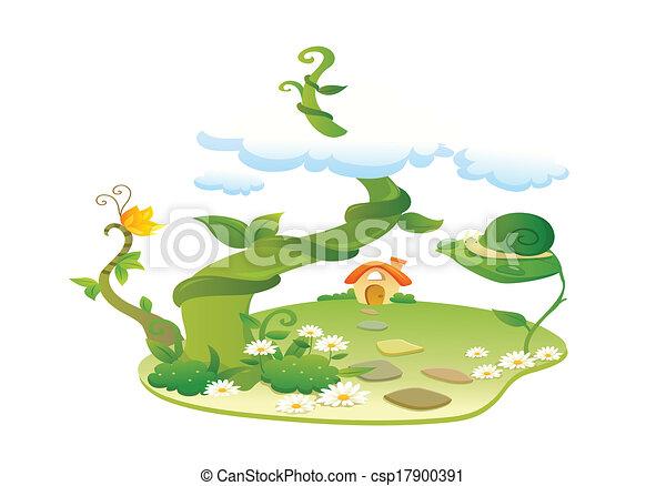 beau, paysage, illustration - csp17900391