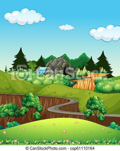 beau, paysage, nature - csp61110164