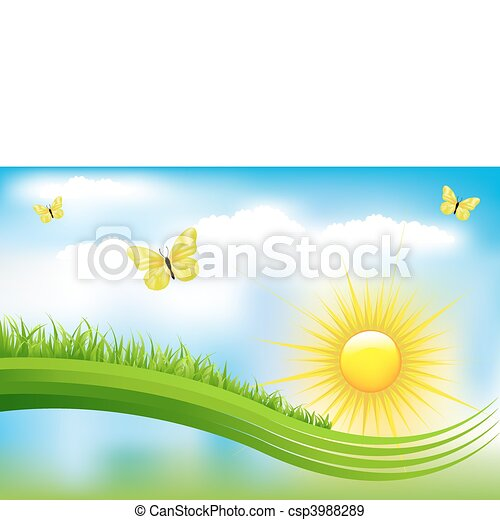 beau, paysage vert - csp3988289