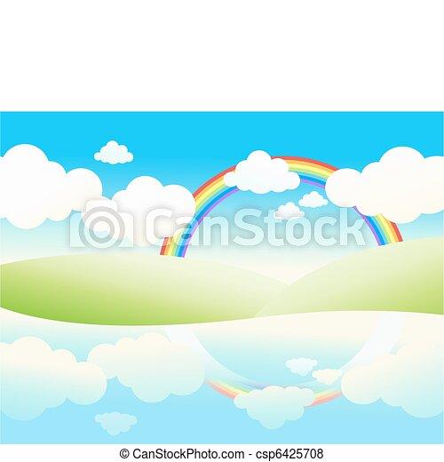 beau, paysage., waterside - csp6425708