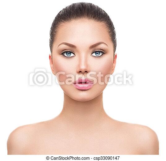 beau, peau parfaite, propre, spa, frais, modèle, girl - csp33090147