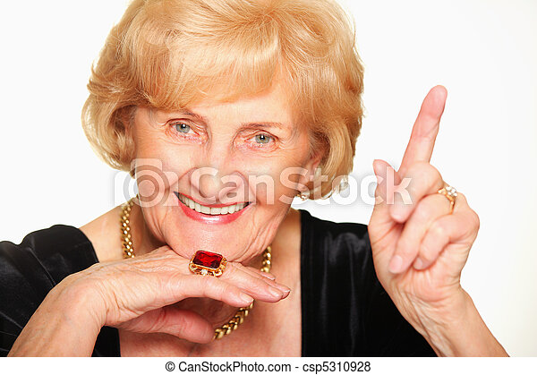 beau, personne agee, dame - csp5310928