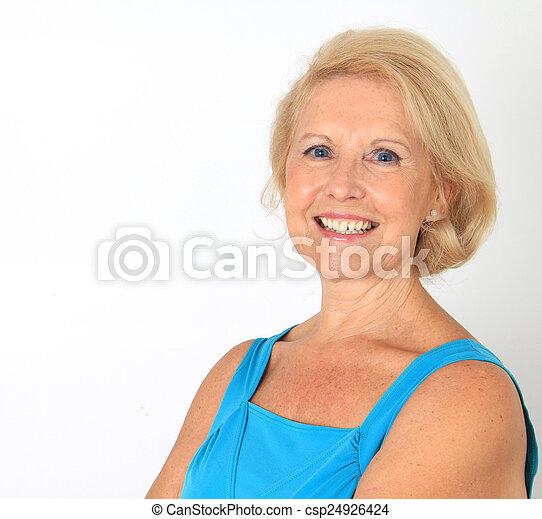 beau, personne agee, dame - csp24926424