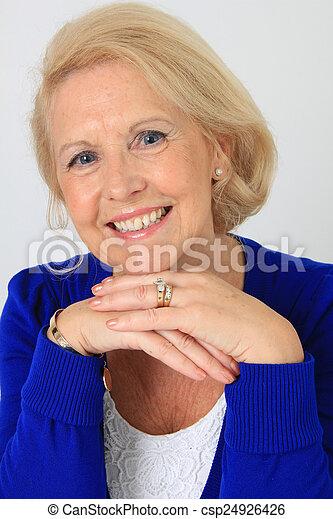 beau, personne agee, dame - csp24926426