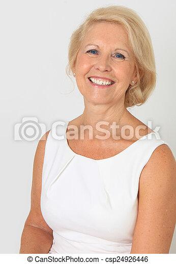beau, personne agee, dame - csp24926446