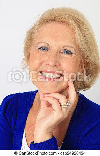beau, personne agee, dame - csp24926434