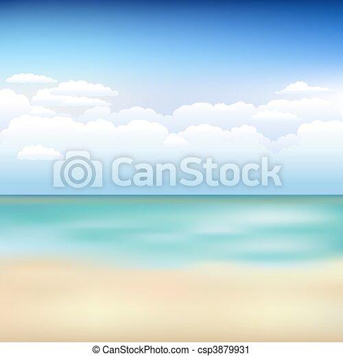 beau, plage, paysage - csp3879931