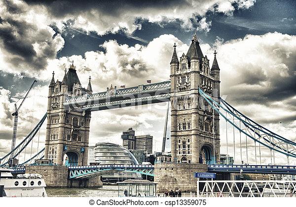 Beau Pont Magnifique Londres Tour Vue