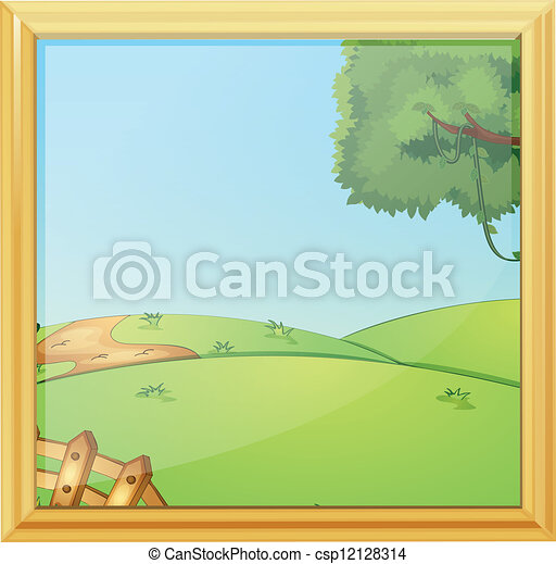 beau, porte-photo, paysage - csp12128314