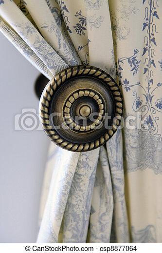 beau, rideau, fenêtre, bord - csp8877064