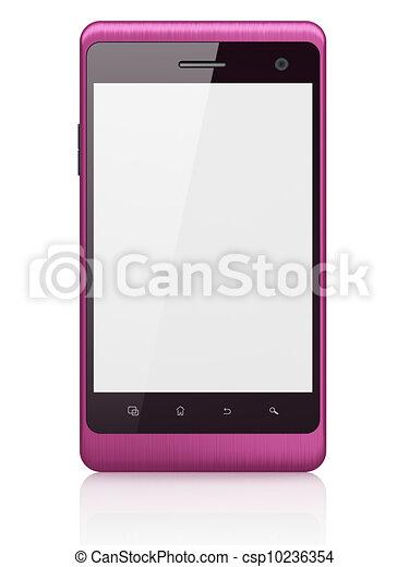beau, smartphone, render, arrière-plan., générique, téléphone portable, blanc, intelligent, 3d - csp10236354