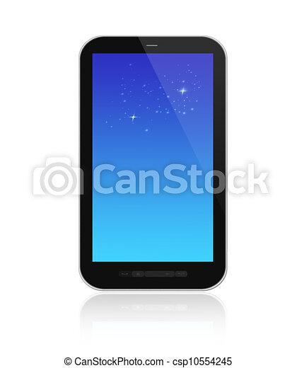 beau, smartphone, render, fond, blanc, 3d - csp10554245