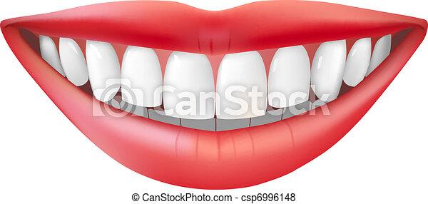 beau, sourire - csp6996148