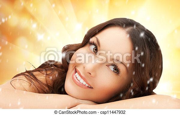 beau, spa, salon, femme - csp11447932