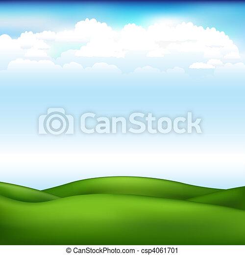 beau, vecteur, paysage - csp4061701