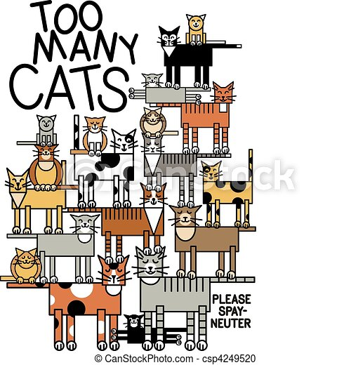 beaucoup, chats - csp4249520