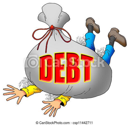 beaucoup, debt. - csp11442711