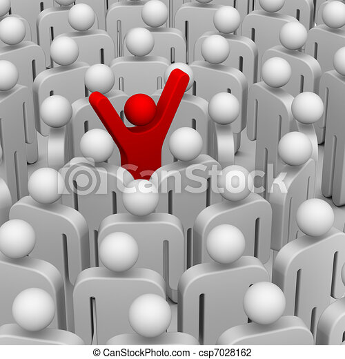 beaucoup, gens, autour de, éditorial - csp7028162