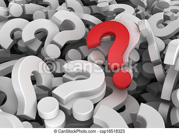 beaucoup, unique, questions, une - csp16518323
