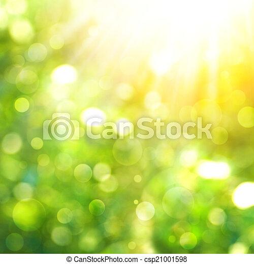 beauté naturelle, résumé, arrière-plans, bokeh, rayon soleil - csp21001598