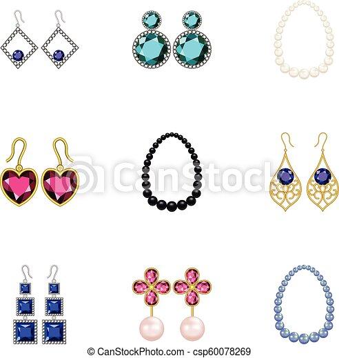 Beautification icons set, cartoon style - csp60078269