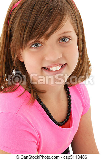 Beautiful 10 year old Girl - csp5113486