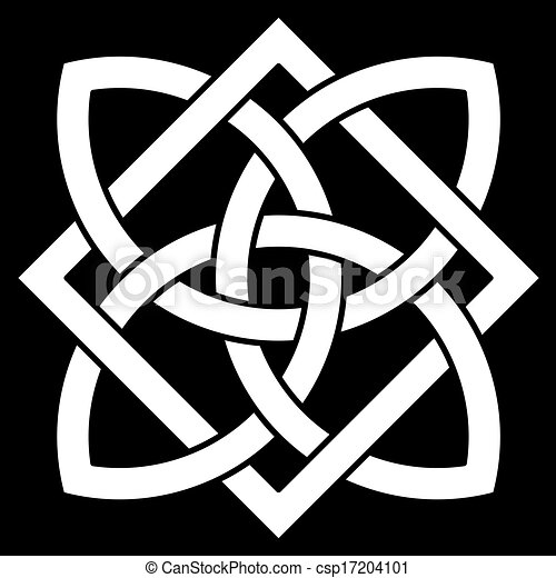 Beautiful 4 point Celtic knot  - csp17204101